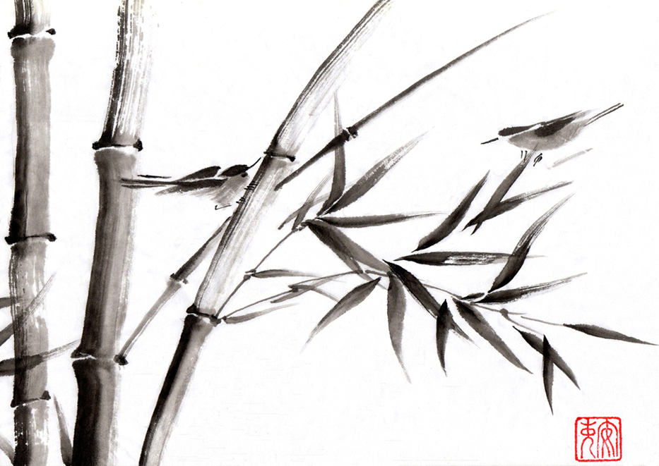 sumie-bamboo