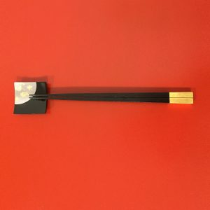 chopsticks ebony and gold type1
