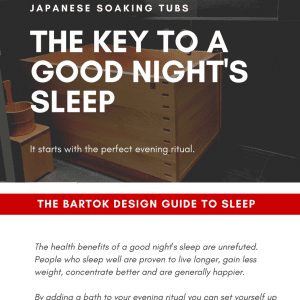 Bartok Design Japanese Ofuro Sleep Guide