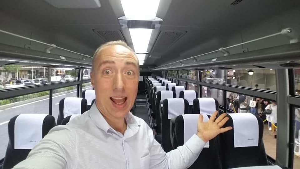 Airport shuttle bus all to myself